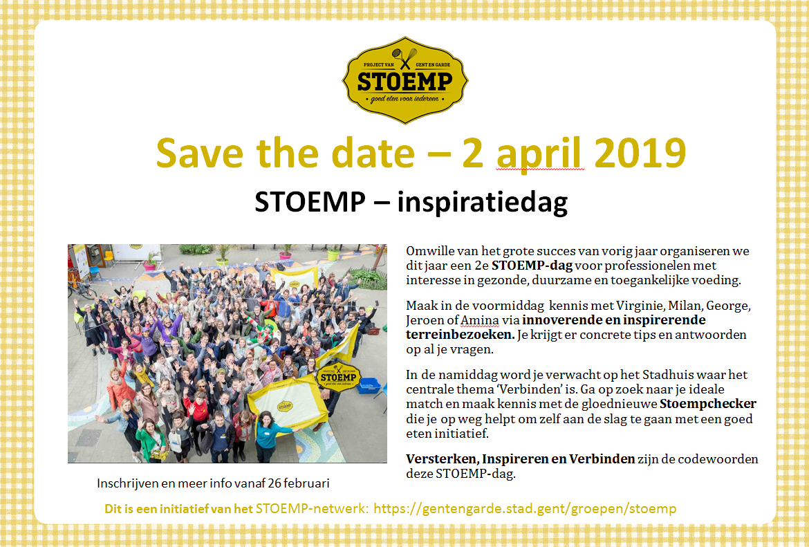 Save the date Stoemp-inspiratiedag